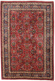 Mashhad Covor 196X292 Orientale Lucrat Manual Roșu-Închis/Maro Închis (Lână, Persia/Iran)