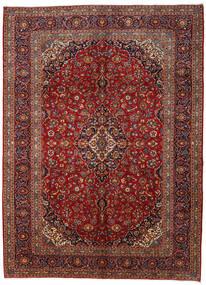 Kashan Covor 295X406 Orientale Lucrat Manual Roșu-Închis/Gri Închis Mare (Lână, Persia/Iran)