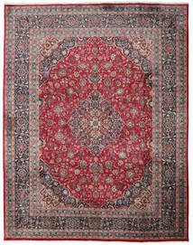 Mashhad Covor 300X382 Orientale Lucrat Manual Negru/Gri Închis Mare (Lână, Persia/Iran)