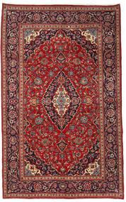 Kashan Covor 210X340 Orientale Lucrat Manual Roșu-Închis/Negru (Lână, Persia/Iran)
