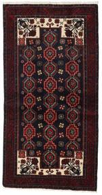 Beluch Covor 105X204 Orientale Lucrat Manual Negru/Roșu-Închis (Lână, Persia/Iran)