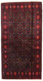 Beluch Covor 110X200 Orientale Lucrat Manual Roșu-Închis (Lână, Persia/Iran)