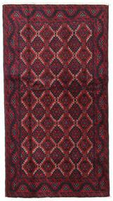 Beluch Covor 100X185 Orientale Lucrat Manual Roșu-Închis/Mov Închis (Lână, Persia/Iran)