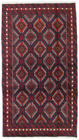 Beluch Covor 100X173 Orientale Lucrat Manual Roșu-Închis/Negru (Lână, Persia/Iran)