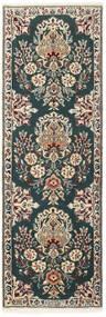 Nain 6La Covor 50X150 Orientale Lucrate De Mână Gri Închis/Gri Deschis (Lână/Mătase, Persia/Iran)