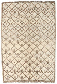 Moroccan Berber - Afghanistan Covor 96X134 Modern Lucrat Manual Bej/Gri Deschis (Lână, Afganistan)