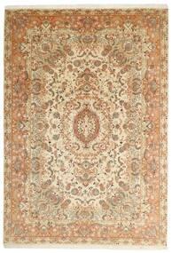 Tabriz 50 Raj Covor 205X297 Orientale Lucrate De Mână Bej/Maro (Lână/Mătase, Persia/Iran)