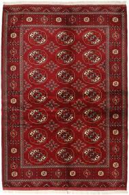 Turkaman Covor 136X200 Orientale Lucrat Manual Roșu-Închis/Roşu (Lână, Persia/Iran)