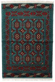 Turkaman Covor 105X150 Orientale Lucrat Manual Negru/Întuneric Turquoise (Lână, Persia/Iran)