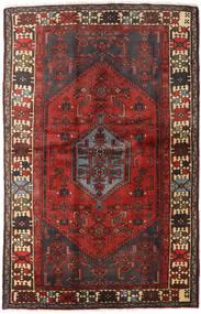 Hamadan Covor 127X197 Orientale Lucrat Manual Roșu-Închis/Maro Închis (Lână, Persia/Iran)