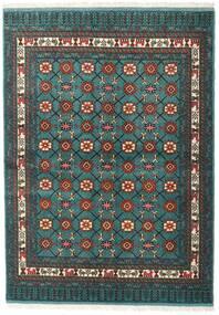 Turkaman Covor 136X187 Orientale Lucrat Manual Întuneric Turquoise/Gri Închis (Lână, Persia/Iran)