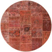 Patchwork - Persien/Iran Covor Ø 200 Modern Lucrat Manual Rotund Roșu-Închis/Roşu (Lână, Persia/Iran)