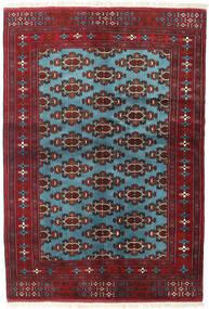 Turkaman Covor 133X190 Orientale Lucrat Manual Roșu-Închis/Albastru (Lână, Persia/Iran)