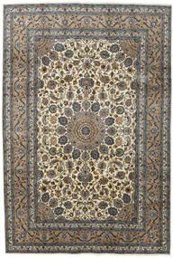 Kashmar Covor 197X292 Orientale Lucrat Manual Gri Închis/Gri Deschis (Lână, Persia/Iran)