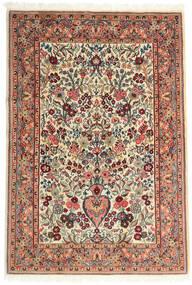 Qom Kork/Mătase Covor 108X157 Orientale Lucrat Manual Bej/Maro Închis (Lână/Mătase, Persia/Iran)