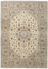 Kashan Covor 250X357 Orientale Lucrat Manual Bej/Gri Deschis Mare (Lână, Persia/Iran)