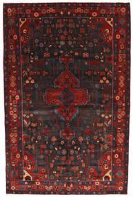 Nahavand Covor 156X245 Orientale Lucrat Manual Roșu-Închis/Negru (Lână, Persia/Iran)
