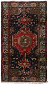 Hamadan Covor 106X188 Orientale Lucrat Manual Maro Închis/Roșu-Închis (Lână, Persia/Iran)