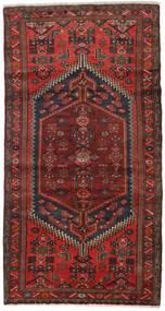 Hamadan Covor 100X188 Orientale Lucrat Manual Roșu-Închis/Maro Închis (Lână, Persia/Iran)