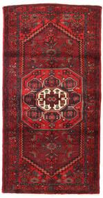 Hamadan Covor 100X190 Orientale Lucrat Manual Roșu-Închis/Maro Închis (Lână, Persia/Iran)