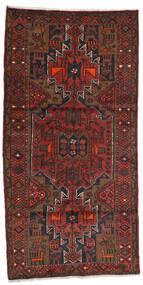 Hamadan Covor 100X199 Orientale Lucrat Manual Roșu-Închis/Maro Închis (Lână, Persia/Iran)