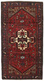 Hamadan Covor 105X195 Orientale Lucrat Manual Roșu-Închis/Negru (Lână, Persia/Iran)