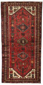 Hamadan Covor 96X186 Orientale Lucrat Manual Roșu-Închis/Maro Închis (Lână, Persia/Iran)
