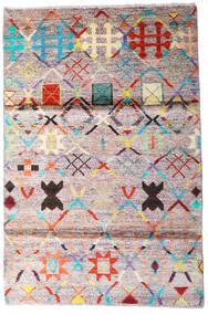 Moroccan Berber - Afghanistan Covor 119X177 Modern Lucrat Manual Bej/Gri Închis (Lână, Afganistan)