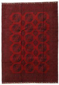 Afghan Covor 206X288 Orientale Lucrat Manual Roșu-Închis/Roşu (Lână, Afganistan)