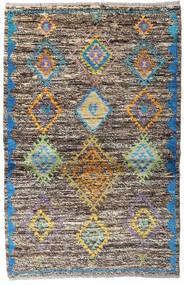 Moroccan Berber - Afghanistan Covor 93X143 Modern Lucrat Manual Gri Deschis/Gri Închis (Lână, Afganistan)