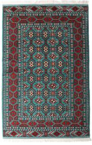 Turkaman Covor 140X208 Orientale Lucrat Manual Negru/Verde Închis (Lână, Persia/Iran)
