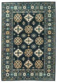 Kazak Covor 203X298 Orientale Lucrat Manual Albastru Închis/Întuneric Turquoise (Lână, Afganistan)