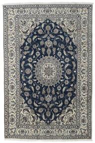 Nain Covor 197X296 Orientale Lucrat Manual Gri Închis/Gri Deschis/Albastru Închis (Lână, Persia/Iran)