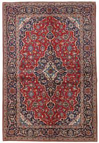 Kashan Covor 149X223 Orientale Lucrat Manual Roșu-Închis/Mov Închis (Lână, Persia/Iran)