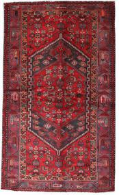 Hamadan Covor 135X228 Orientale Lucrat Manual Roșu-Închis/Roşu (Lână, Persia/Iran)