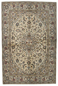 Kashan Covor 137X205 Orientale Lucrat Manual Gri Deschis/Gri Închis (Lână, Persia/Iran)