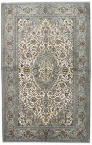 Kashan Covor 140X218 Orientale Lucrat Manual Gri Deschis/Gri Închis (Lână, Persia/Iran)