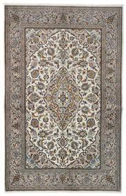 Kashan Covor 137X213 Orientale Lucrat Manual Gri Deschis/Negru (Lână, Persia/Iran)