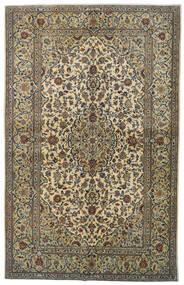 Kashan Covor 142X224 Orientale Lucrat Manual Gri Închis/Lumina Verde (Lână, Persia/Iran)