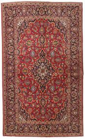 Kashan Covor 133X222 Orientale Lucrat Manual Roșu-Închis/Maro Închis (Lână, Persia/Iran)
