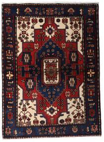 Hamadan Covor 110X150 Orientale Lucrat Manual Albastru Închis/Roșu-Închis (Lână, Persia/Iran)