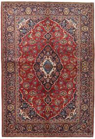 Kashan Covor 147X215 Orientale Lucrat Manual Roșu-Închis/Mov Închis (Lână, Persia/Iran)