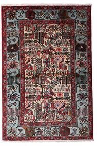 Hamadan Covor 100X150 Orientale Lucrat Manual Negru/Roșu-Închis (Lână, Persia/Iran)