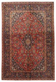 Kashan Covor 138X206 Orientale Lucrat Manual Maro Închis/Roșu-Închis (Lână, Persia/Iran)