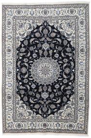 Nain Covor 197X290 Orientale Lucrat Manual Gri Deschis/Gri Închis (Lână, Persia/Iran)