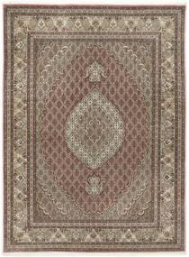 Tabriz 50 Raj Cu Mătase Covor 155X209 Orientale Lucrat Manual Gri Deschis/Maro Deschis (Lână/Mătase, Persia/Iran)