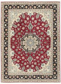 Tabriz 50 Raj Covor 152X205 Orientale Lucrat Manual Gri Deschis/Bej (Lână/Mătase, Persia/Iran)