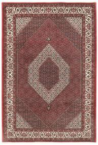 Bidjar Cu Mătase Covor 200X300 Orientale Lucrat Manual Roșu-Închis/Maro Închis (Lână/Mătase, Persia/Iran)