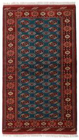 Turkaman Covor 129X219 Orientale Lucrat Manual Roșu-Închis/Negru (Lână, Persia/Iran)
