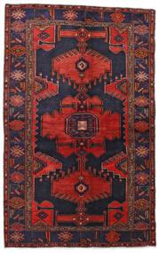 Hamadan Covor 132X211 Orientale Lucrat Manual Mov Închis/Roșu-Închis (Lână, Persia/Iran)